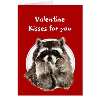 Cartão Corações dos namorados para beijos de sopro do