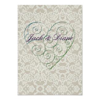 Cartão Corações e laço