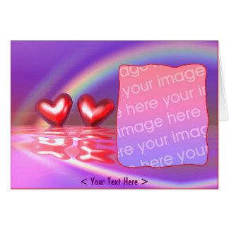 Cartão Corações felizes (quadro da foto)