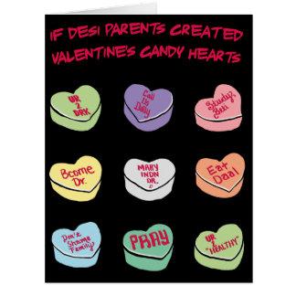 Cartão Corações GRANDES dos doces da conversação de Desi