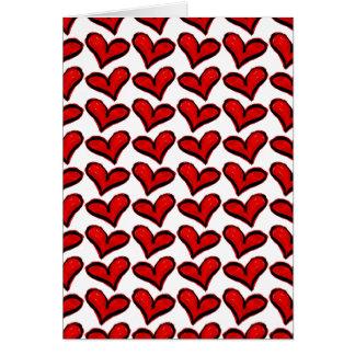 Cartão Corações lunáticos do feriado