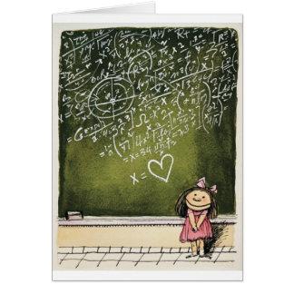 Cartão Corações & matemática
