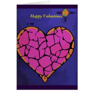 Cartão Corações no amor