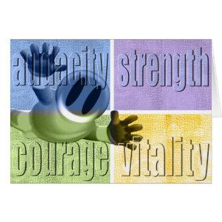 Cartão Coragem da força da audácia & vitalidade Notecard