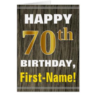 Cartão Corajoso, madeira do falso, aniversário do 70 do