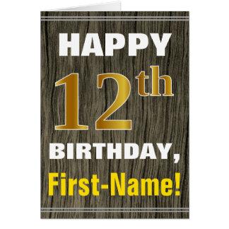 Cartão Corajoso, madeira do falso, aniversário do ouro do