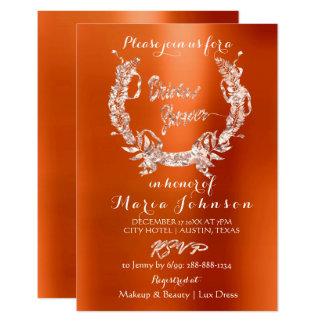Cartão Coral cor-de-rosa da laranja do ouro da grinalda