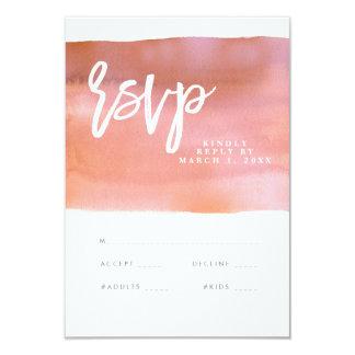 Cartão coral do rsvp do casamento da aguarela, convite 8.89 x 12.7cm