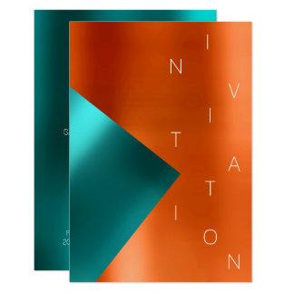 Cartão Coral metálico VIP da cerceta do evento da forma