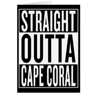 Cartão coral reto do cabo do outta