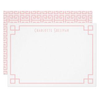 Cartão Coram beira chave cor-de-rosa os artigos de