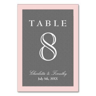 Cartão Coram o rosa & as cinzas elegantes