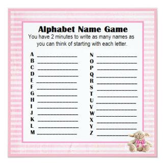 Cartão Cordeiro do rosa do jogo do nome & do Bingo do
