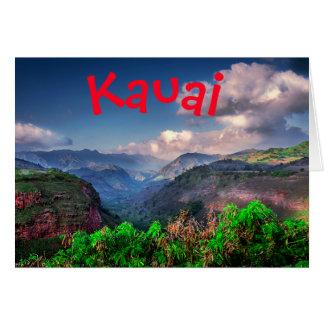 Cartão Cordilheira tropical de Kauai Havaí
