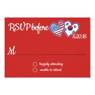 Cartão coreano americano da resposta do amor