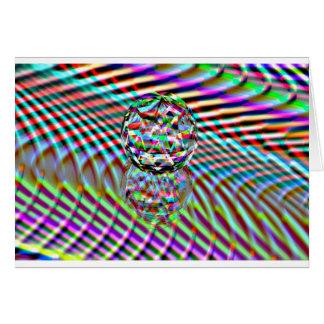 Cartão Cores altas de cristal