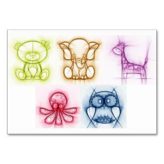 Cartão Cores animais