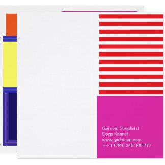 Cartão Cores corajosas, design gráfico da multa