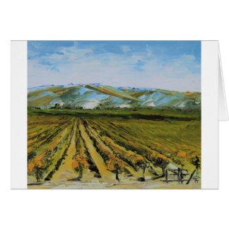 Cartão Cores de Napa Valley, região vinícola Califórnia