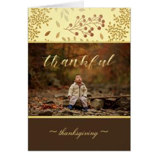 Cartão Cores do outono, foto grata