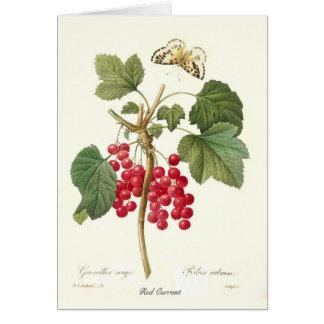 Cartão Corinto vermelho