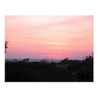 Cartão Cornish do por do sol (5983)