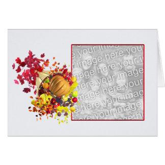Cartão Cornucopia da acção de graças (quadro da foto)