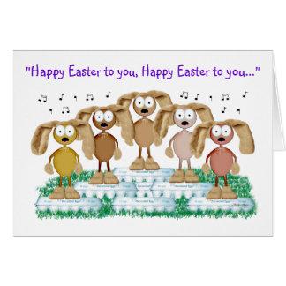 Cartão Coro do coelho