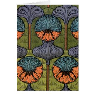 Cartão Coroa Imperial de Nouveau da arte '