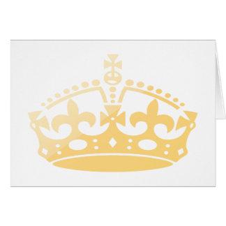 Cartão Coroa unisex do jubileu do salão de beleza do