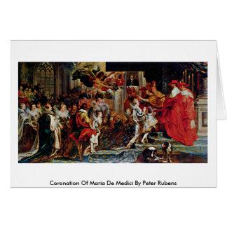 Cartão Coroação de Maria De Medici Peter Rubens
