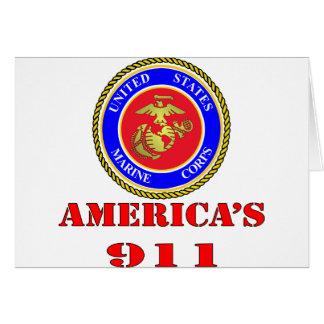 Cartão Corpo do Marines América 911 dos Estados Unidos do