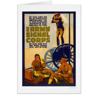 Cartão Corpo do sinal do exército