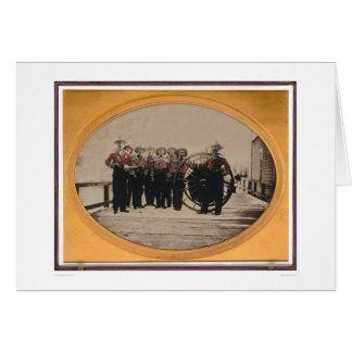 Cartão Corpo dos bombeiros de San Francisco no cais de