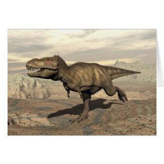 Cartão Corredor do tiranossauro - 3D rendem