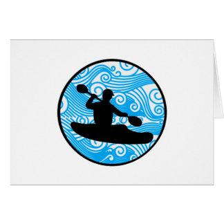 Cartão Corredor extremo da onda