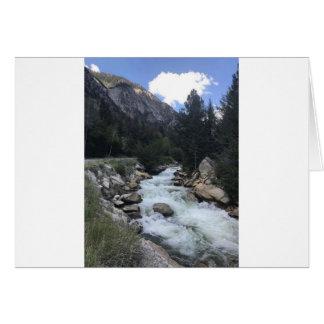 Cartão Córrego da montanha rochosa