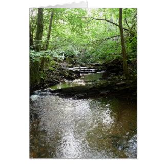 """Cartão """"Córrego nas madeiras de Northumberland"""" (2)"""