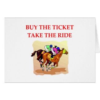 Cartão corrida de cavalos