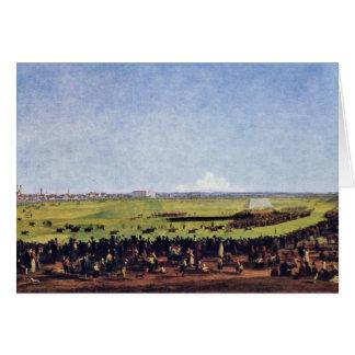 Cartão Corrida de cavalos por Kobell Wilhelm Von (a