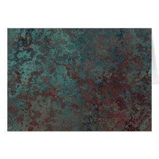 """Cartão Corrosão texto interno do impressão """"de cobre"""""""