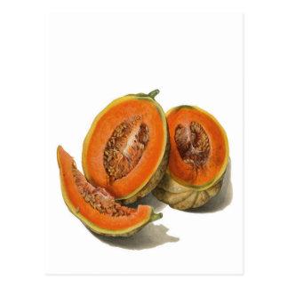 Cartão cortado da ilustração do melão do
