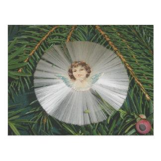Cartão cortado Victorian do ornamento do anjo