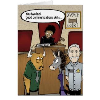 Cartão Corte de divórcio de Toler do juiz
