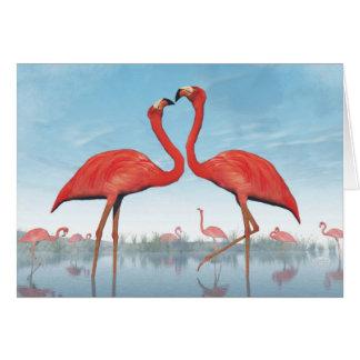 Cartão Corte dos flamingos - 3D rendem