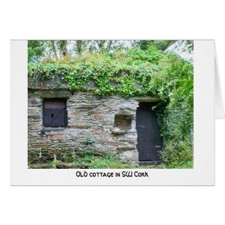 Cartão Cortiça irlandesa do condado da casa de campo