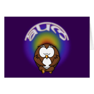 Cartão coruja da ioga