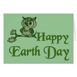 Cartão Coruja de Dia da Terra