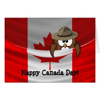 Cartão Coruja de dia de Canadá