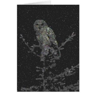 Cartão Coruja de noite